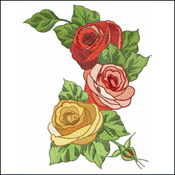 Romantic Roses Artistic Shape
