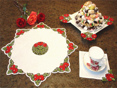 Project Idea with Rose Lace for Table