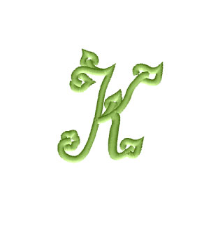 Letter K in Two Sizes from Spring Font