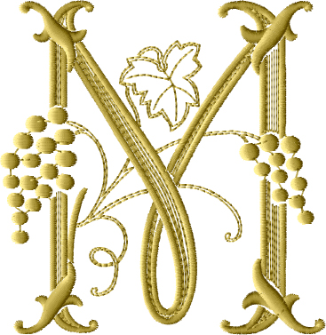 Grape Vine Embroidery Designs