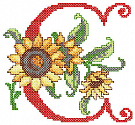 C from Sunflower Alphabet Cross Stitch