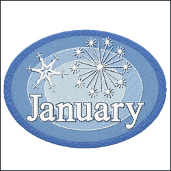 January from Twelve Month Gala Patches