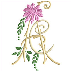 AC or CA Two Letter Monogram