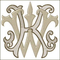 KW or WK Two Letter Monogram