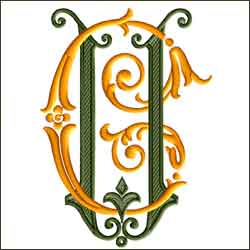 C and U 1 two letter monogram