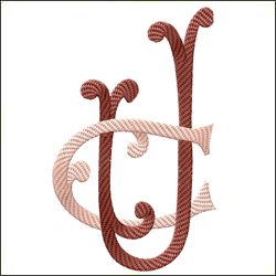 C and U 3 two letter monogram