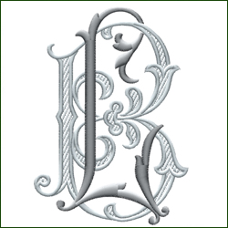 L and B, or B and L Monogram #1