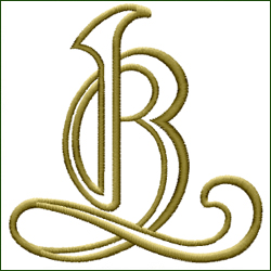 L and B, or B and L Monogram #2