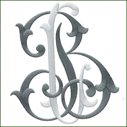 L and B, or B and L Monogram #4