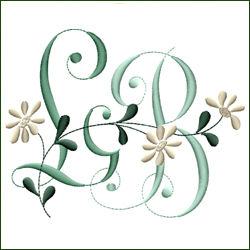 L and B, or B and L Monogram #5
