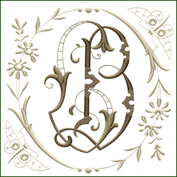 L and B, or B and L Monogram #6