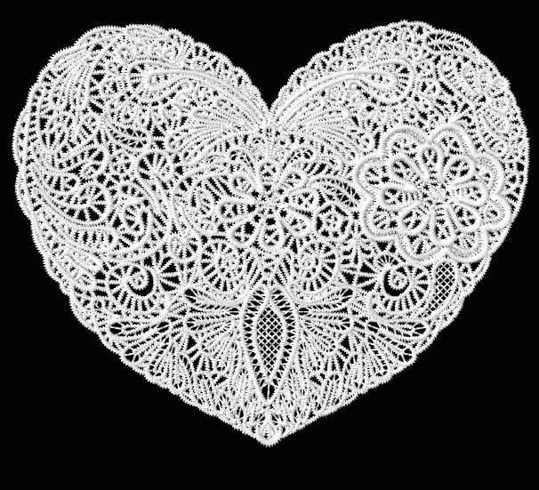 Lacy Heart Embroidery Designs