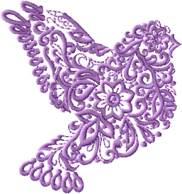 Wedding Doves Embroidery Designs