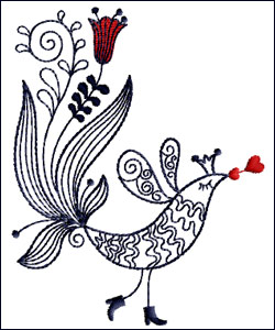 Valentine Kissing Bird