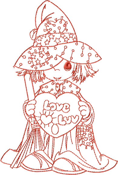 Wizard of Luv Embroidery Design
