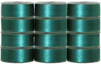144 L Pre-Wound Plastic Sided Bobbins - Emerald