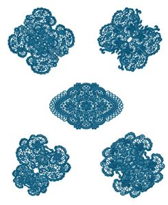 Laced Butterfly Doilies