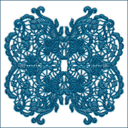 Laced Butterfly Doily 4