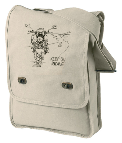 Keep On Riding Pigment-Dyed Canvas Field Bag