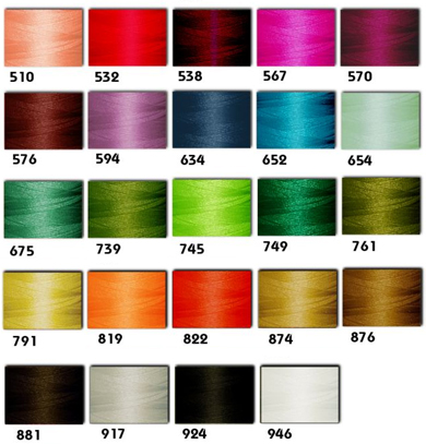 ThreaDelight Rayon Machine Embroidery Threads Kit - 24 colors