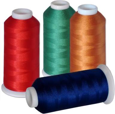 Machine embroidery thread - 60 colors kit on 5500-yard cones