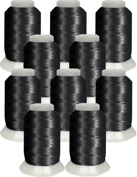 Bobbin Thread Kit 10 cones - Black
