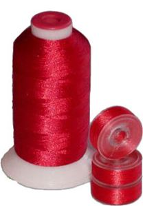 Matching 72 L Bobbins & 10 Thread - Christmas Red