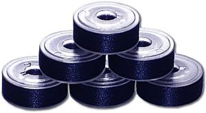 72 L Pre-Wound Plastic Sided Bobbins - Blueberry Blue (637)