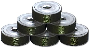 144 L Pre-Wound Plastic Sided Bobbins - Avacado Green (P740)