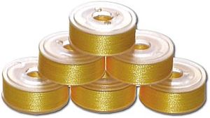 144 L Pre-Wound Plastic Sided Bobbins - Canary BRT (P816)