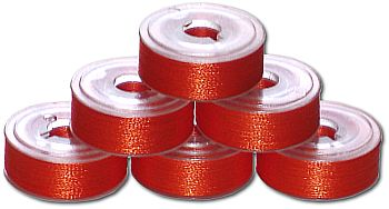 72 L Pre-Wound Plastic Sided Bobbins - Bright Orange (P823)