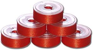 144 L Pre-Wound Plastic Sided Bobbins - Bright Orange (P823)
