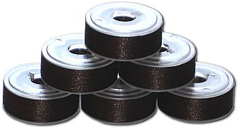 144 L Pre-Wound Plastic Sided Bobbins - Coffee Brown DK (P880)