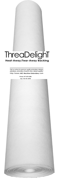 Heat-Away Backing - 24 inch x 25 yards