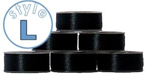 144 L size plastic-sided bobbins BLACK