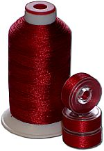 Matching Bobbins & Thread - Christmas Red Color