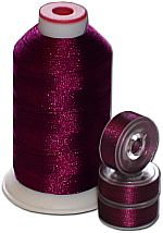 Matching Bobbins & Thread - Plum DK Color