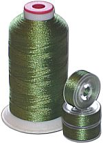 Matching Bobbins & Thread - Insect Green Color