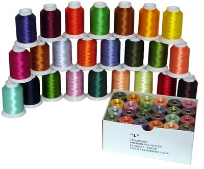 Matching Bobbins and Top Thread (both 60WT) - 24 AMAZING COLORS