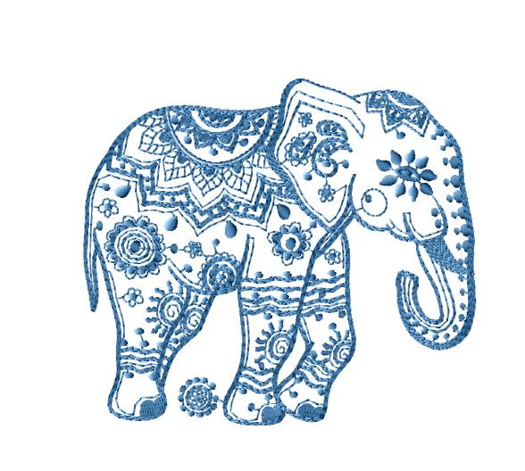 Free Machine Embroidery Applique Elephant Design