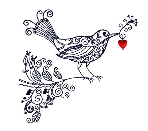 Bird with Valentine