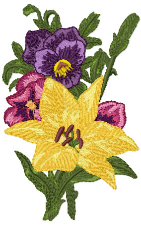 Romantic Pansies Bouquet 6