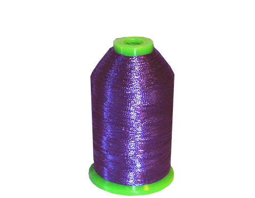 Metallic Embroidery Thread One Cone - Purple