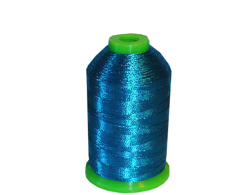 Metallic Embroidery Thread Kit One Cone - Sky Blue