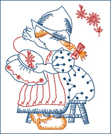 Love-to-embroider Dutch Girl  embroidery design