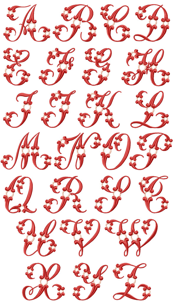 Adore Alphabet machine embroidery designs