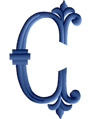 C from Romanesque Initials