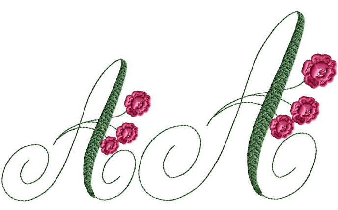 Charlotte Rose Alphabet machine embroidery designs