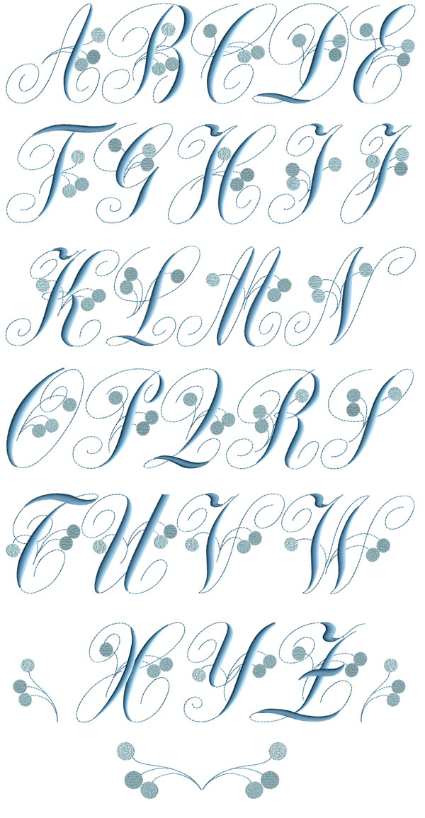 Charlotte Snow Blue machine embroidery designs