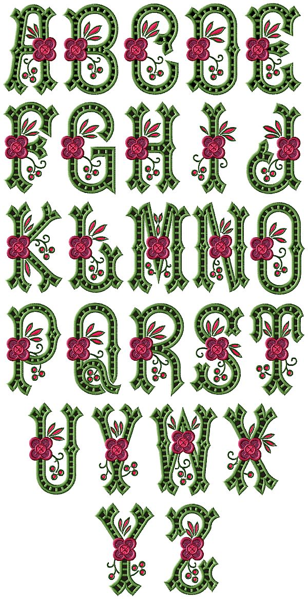 Country Charm Cutwork Alphabet